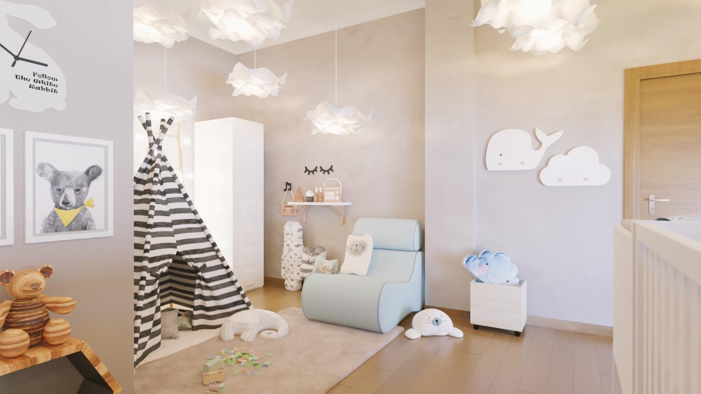 Dormitor copil mobila si lustre