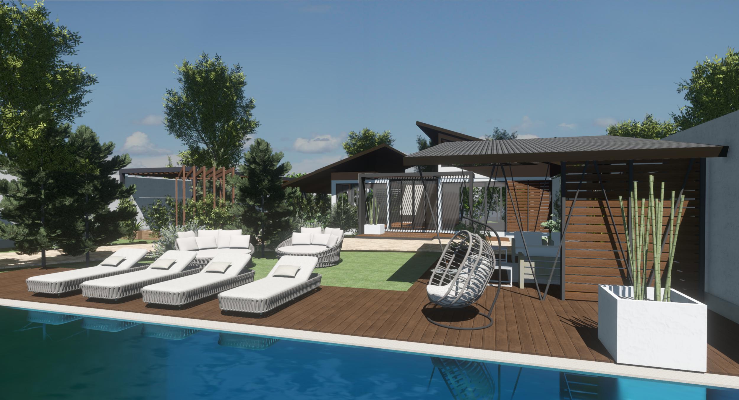 Zona piscina casa